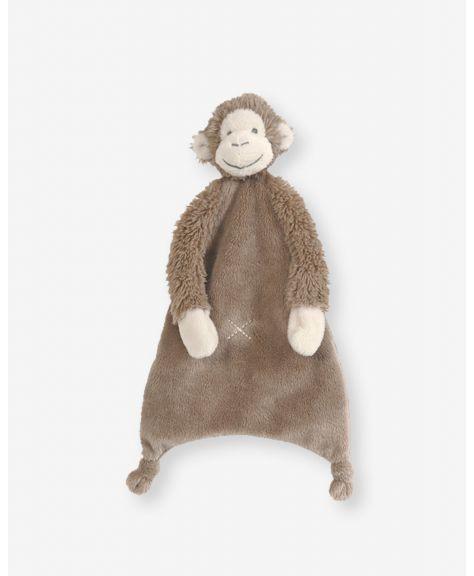 """בובת מיקי - קוף חום שמיכי 28 ס""""מ - HAPPY HORSE"""