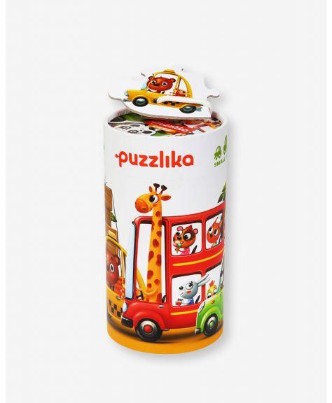 סט 5 פאזלים למתחילים 2-6 חלקים - מכוניות - Puzzlika