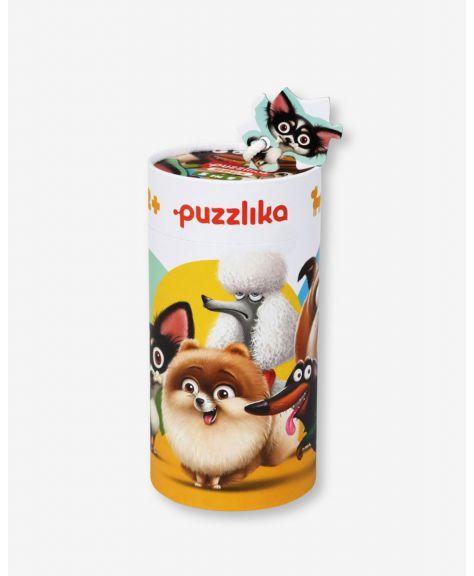 סט 5 פאזלים למתחילים 2-6 חלקים - כלבים - Puzzlika