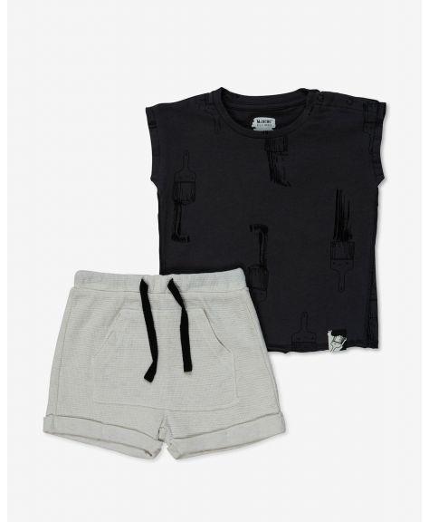 סט גופיה ומכנסיים קצרים דרימינג