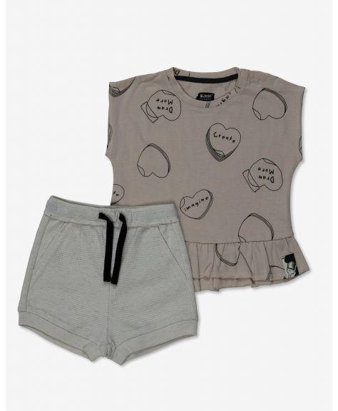 סט חולצה ומכנסיים קצרים מרקר