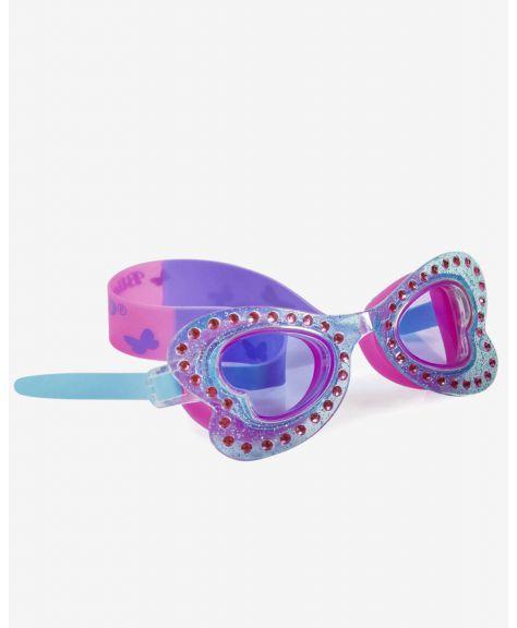 משקפת שחייה מעוצבת פרפר כחול לגיל 8+ Bling2O