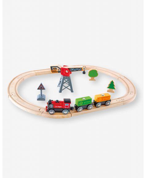 סט מסילות רכבת מטען עם קטר חשמלי HAPE