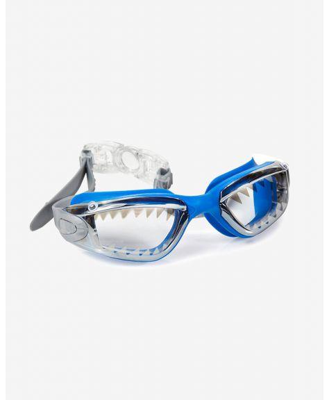 משקפת שחייה מעוצבת כריש ריף כחול לגיל 3+ Bling2O